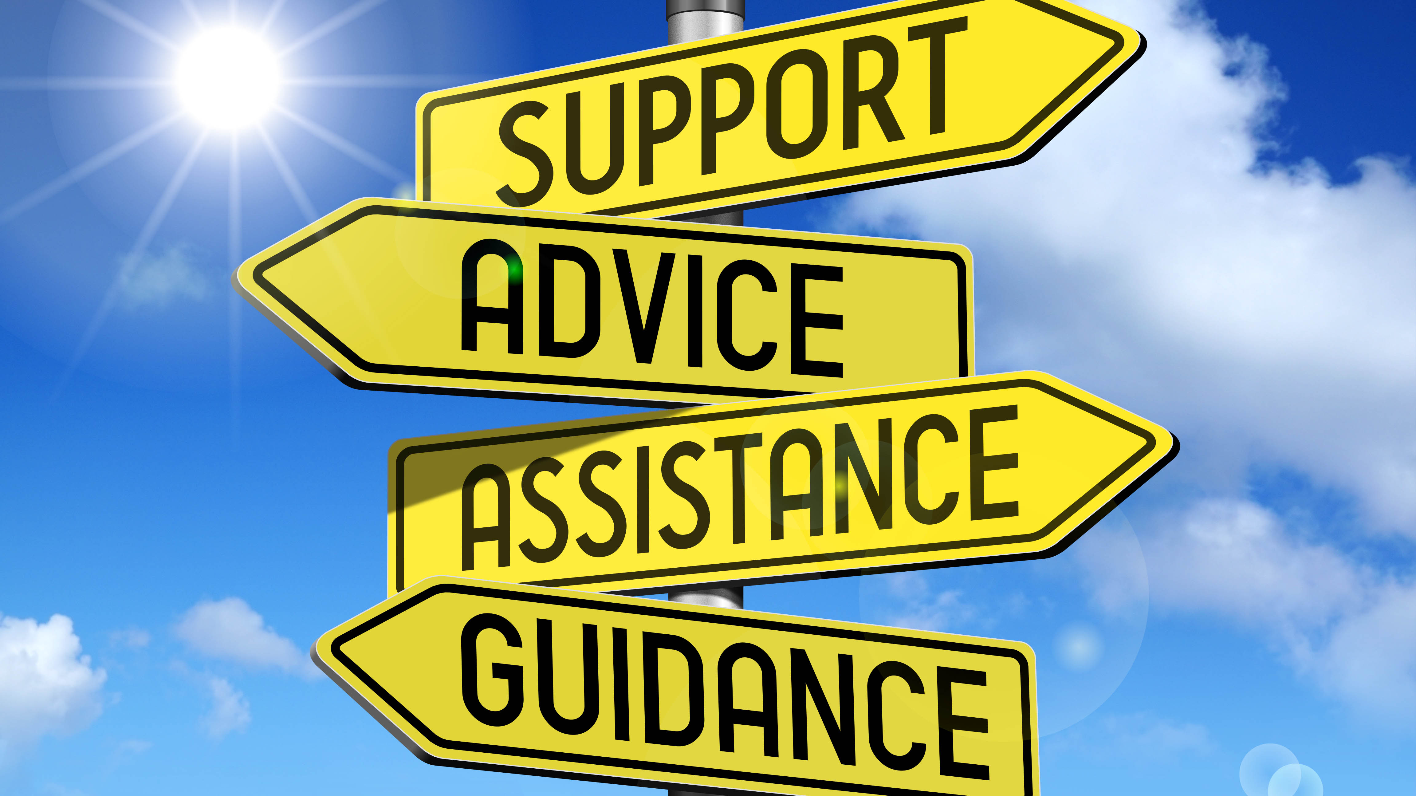 support advice assistance guidance