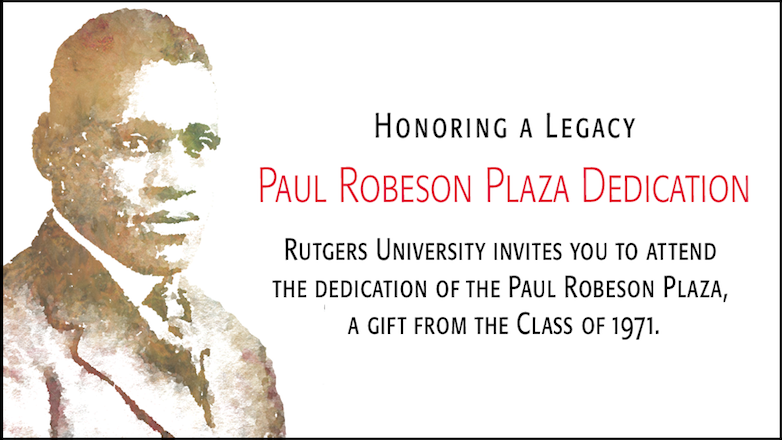 honoring a legacy paul robeson plaza dedication
