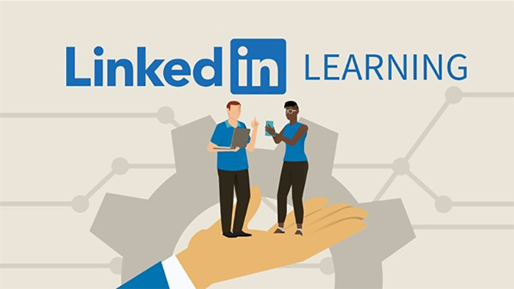 Linkedin Learning graphic of connection and learning across networks